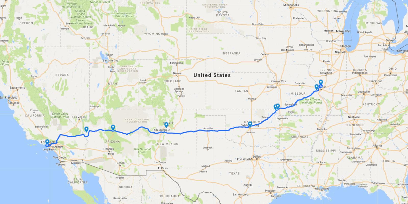 landscape 1508449344 route 66 haunted destinations road trip map