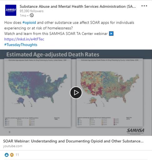 SAMHSA LinkedIn Post