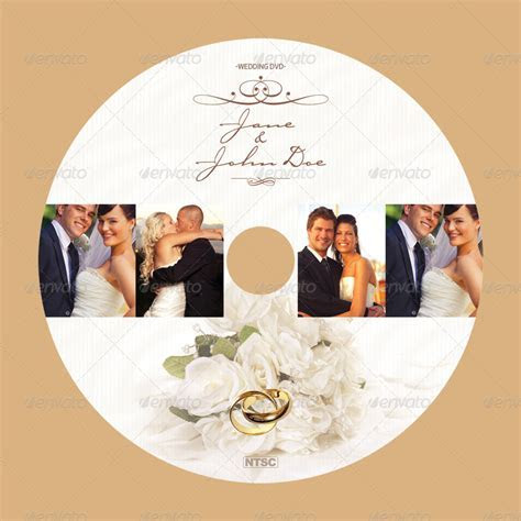 Wedding CD/DVD Cover ? Free PSD Brochure Template