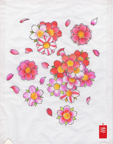 cherry blossoms, sakura tattoo flash by yoso tattoo (www.yoso.eu)