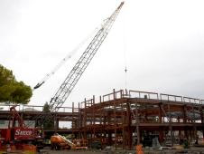 The final beam was placed as the building, called Sustainability  Base, reached its height and completed its skeletal structure
