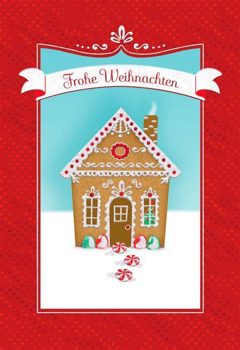 Gingerbread House German Language Christmas Card