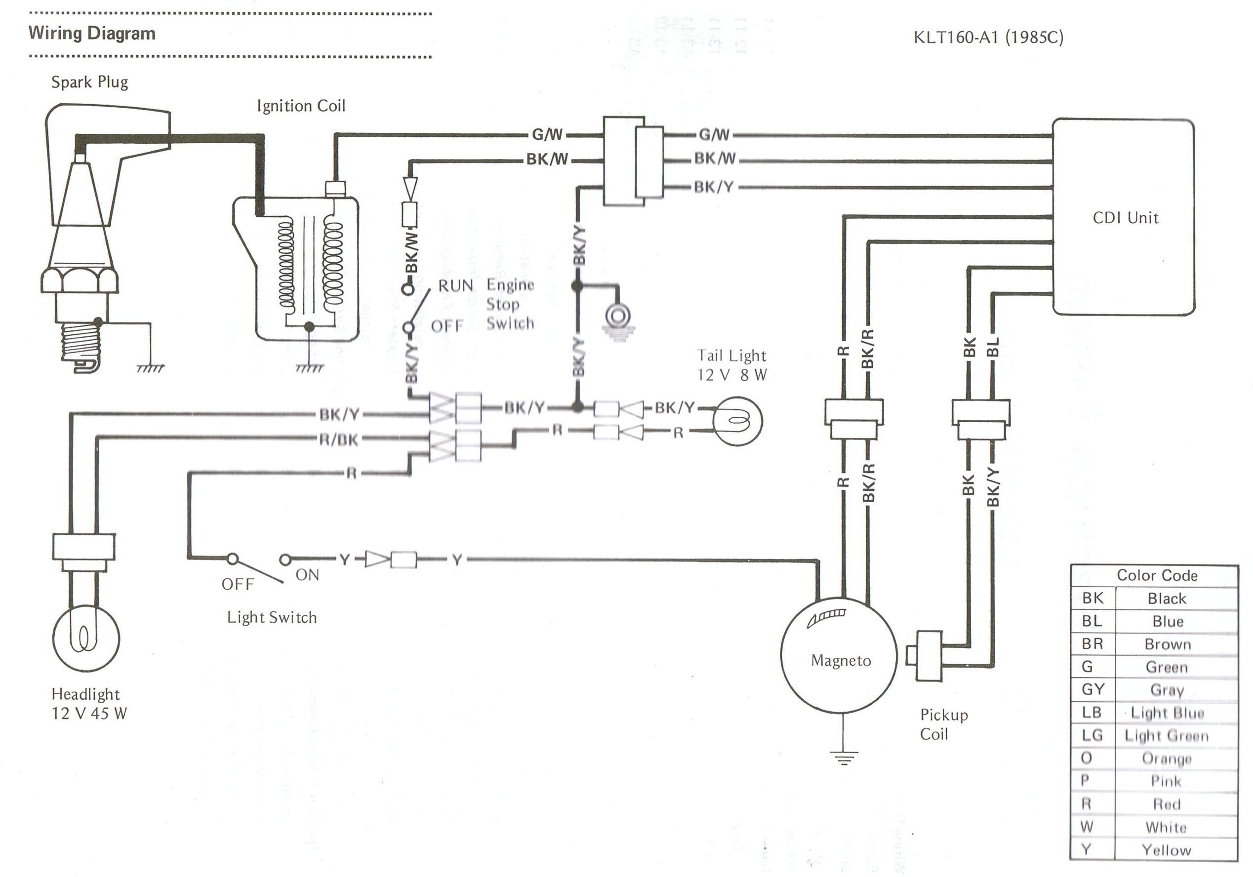 3wheeler World Kawasaki Three Wheeler Wiring Diagrams