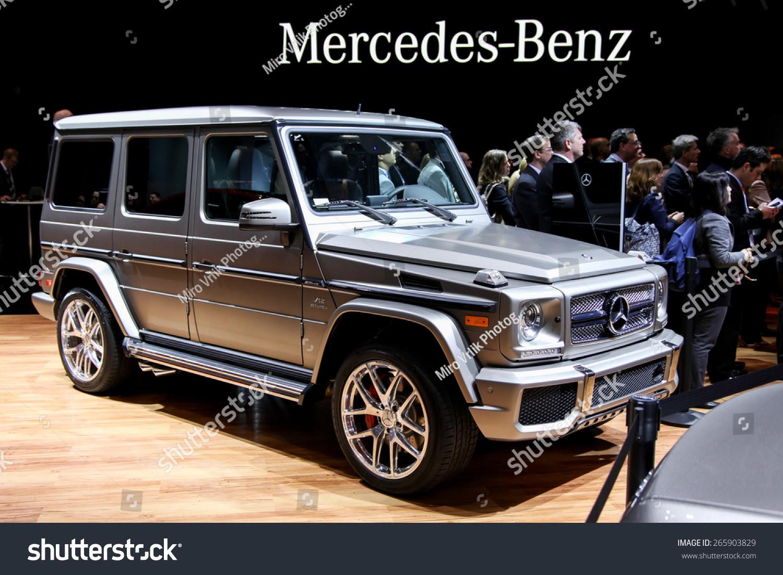 New York - April 1: Mercedes Benz Exhibit New G-65 At The ...