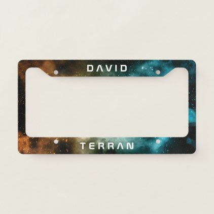 Monogram Series: You The Terran. Funny Gift. License Plate Frame