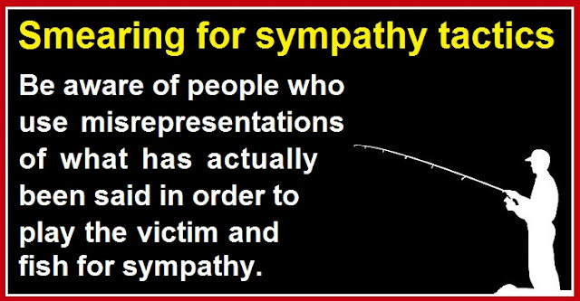 Smearing for sympathy