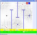 Screenshot of the simulation Ηλεκτροστατικό Χόκεϋ
