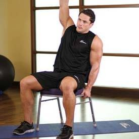 back stretch with chair lower  fitness guroo