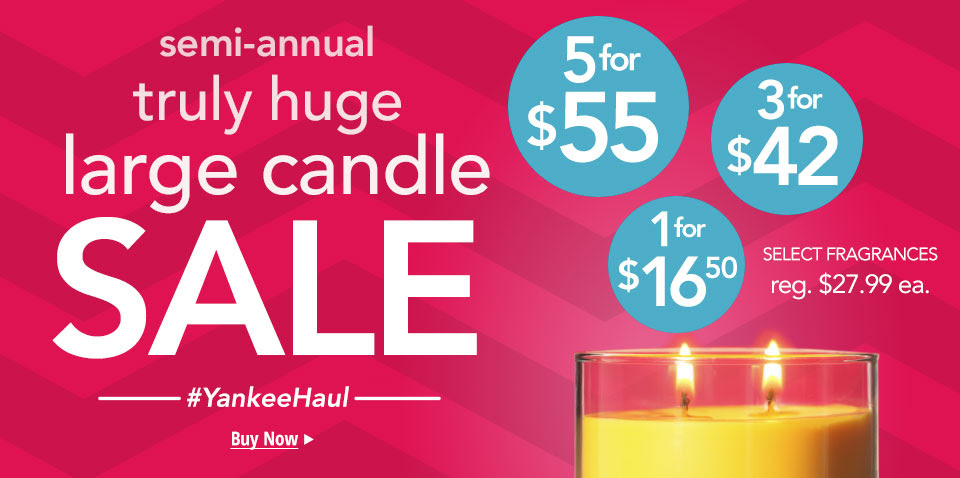 Large Candle Sale