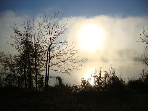 The sunrise over Lake Carnegie 10/21/13