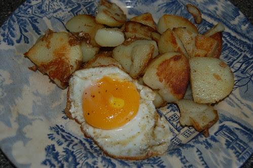 fried potatoes and egg Aug 13