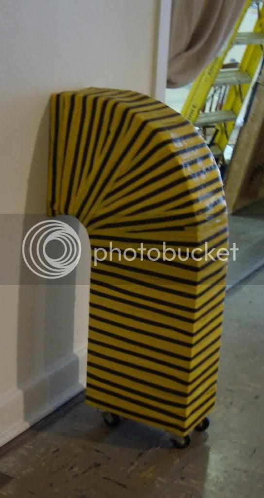 yellow & black piece