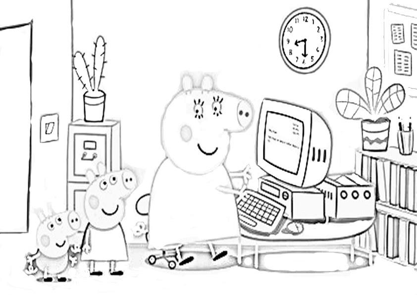 Dibujos De Peppa Pig Para Colorear De Navidad Imagesacolorierwebsite