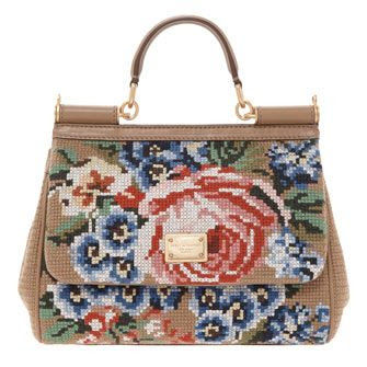 Dolce & Gabbana Floral Cross-Stitched Shoulder Bag #paydaytreat #lustlist