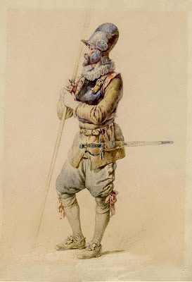 watercolour medieval soldier