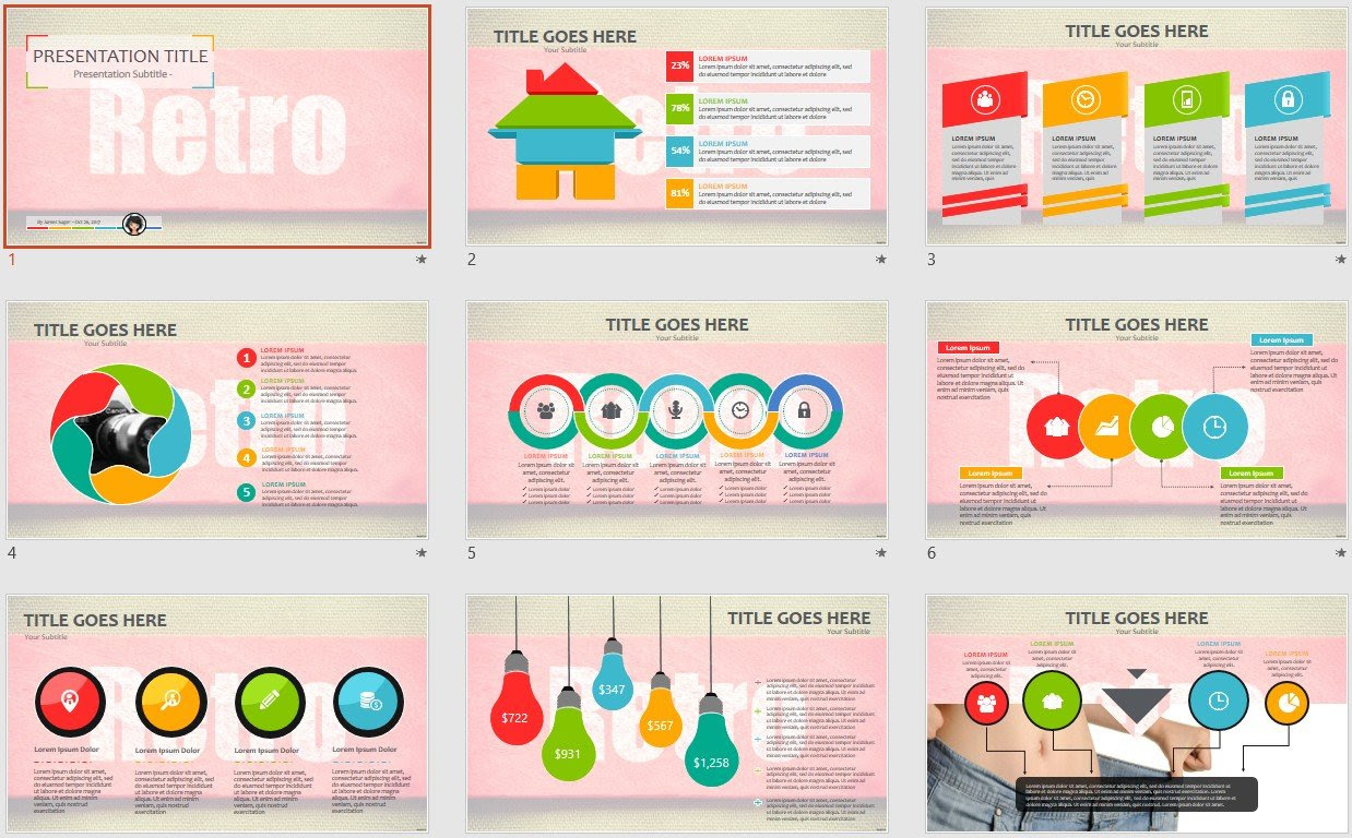 Powerpoint Free Com Free Powerpoint Templates Retro Powerpoint Template 19448