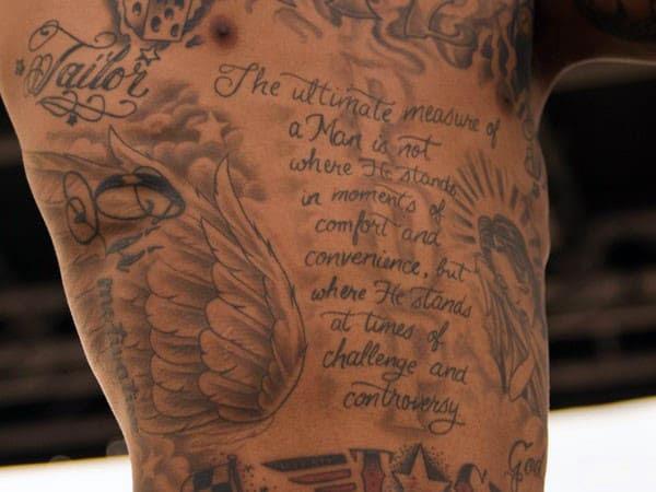Left Rib Cage Tiger Tattoo For Men Tattooshuntcom