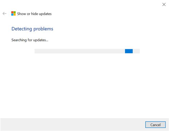 Deje que el solucionador de problemas busque actualizaciones disponibles en Windows 10