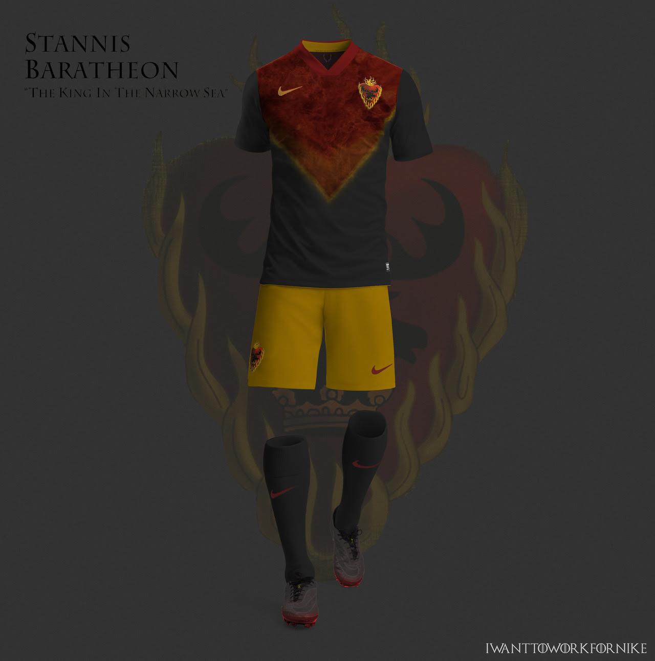 Equipaciones futboleras tipo Juego de Tronos - Stannis Baratheon