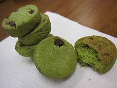 Bourbon Matcha Chocochip cookies