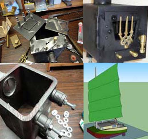 You need a wooden stove for your small boat. Simply take a steel box