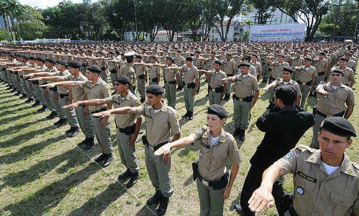 Concurso: no total, há 1,5 mil vagas para soldado da Polícia Militar de Pernambuco. Foto: JC Imagem