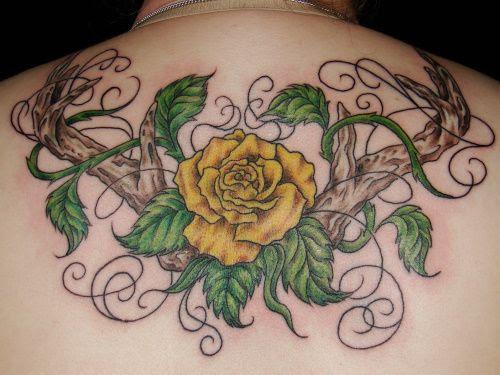 Tatuajes De Flores Rosas Significado De La Rosa Como Tatuaje