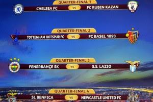 Лига Европы: Результаты и расписание всех матчей 1/4 финала