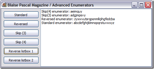 Advanced Enumerators sample app