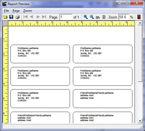 Free Address Home pc users database templates for Organizer Deluxe and Pro
