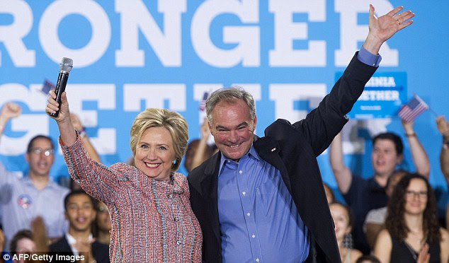 Hillary Clinton has chosen Virginia Senator Tim Kaine to be her running mate.The Democratic candidate for president announced the news in a text message to her supporters