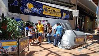 El Planetario Móvil fue la estrella del evento AstroDay Chile recibiendo más de 300 personas durante el día en un viaje de los cielos chilenos