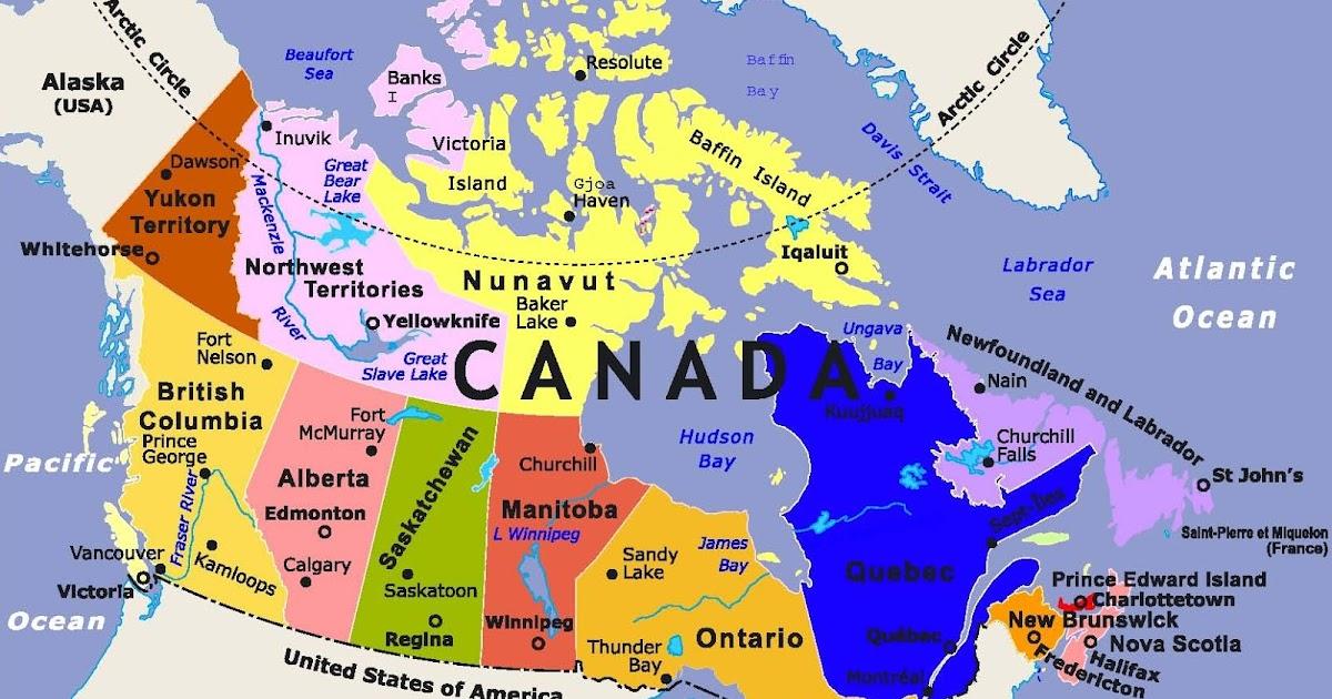 خريطة مدن كندا بالعربي Kharita Blog
