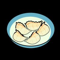ギョーザ餃子のイラストイラスト素材の素材ダス