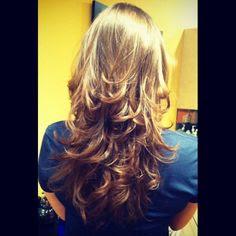 Long V Layered Haircut Back View 2015 New Hair Style