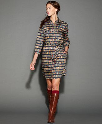Tommy Hilfiger Long-Sleeve Printed Shirtdress