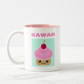 Kawaii Cupcake Cherry mug