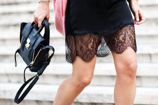 LE FASHION BLOG ALL ABOUT THE DETAILS LACY DRESS COZY CARDIGAN COLLAGE VINTAGE BLOGGER STYLE BLACK CAMI LACE SLIP DRESS LINGERIE LACY HEM OVERSIZED PINK CARDIGAN SWEATER 3.1 PHILLIP LIM MINI PASHLI SATCHEL BAG OVERSIZED 3 photo LEFASHIONBLOGALLABOUTTHEDETAILSLACYDRESSCOZYCARDIGAN3.jpg