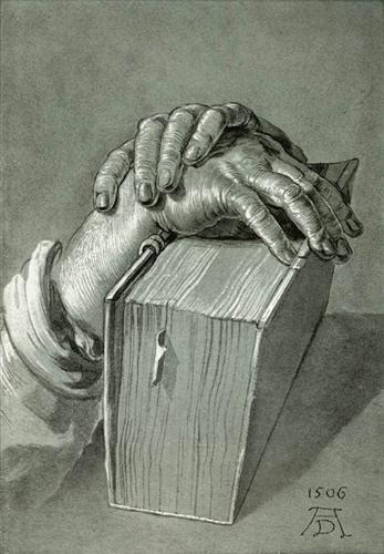 Hand Study with Bible - Albrecht Durer