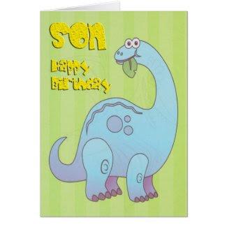 Birthday Son Blue Dinosaur Cards