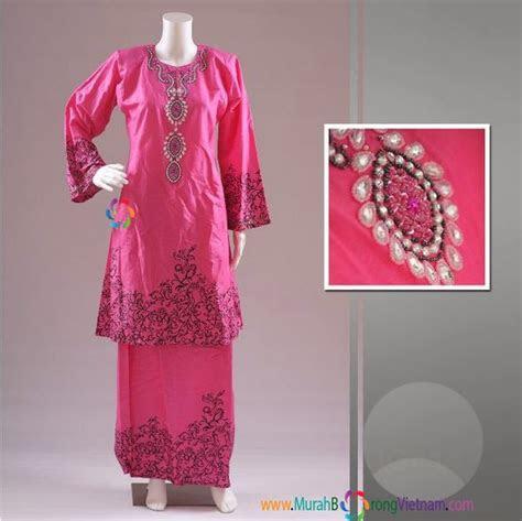 baju kurung cotton manik murah borong vietnam