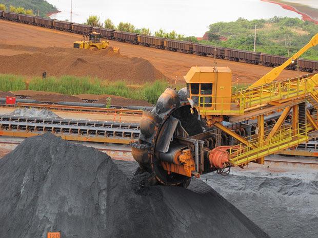 Produção de Brucutu é destinada 100% para exportação (Foto: Darlan Alvarenga/G1)