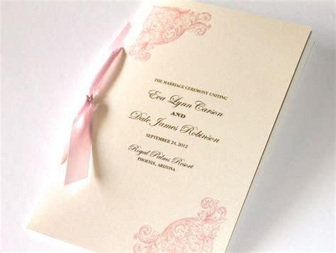Vintage Wedding Program   Elegant Wedding Program
