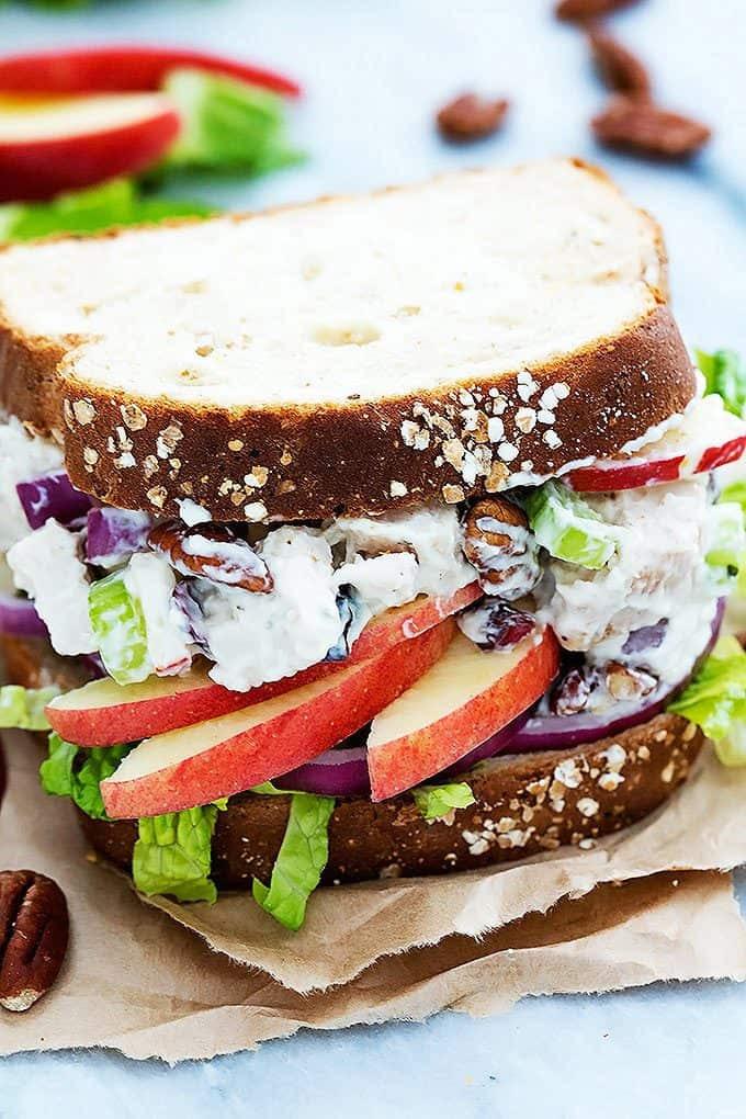 Lighter Apple Pecan Chicken Salad | Creme de la Crumb