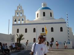 Sebuah Gereja Greek Orthodox, Oia, Pulau Santorini, Greece