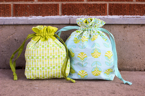 Color Me Retro Drawstring Bags by Jeni Baker