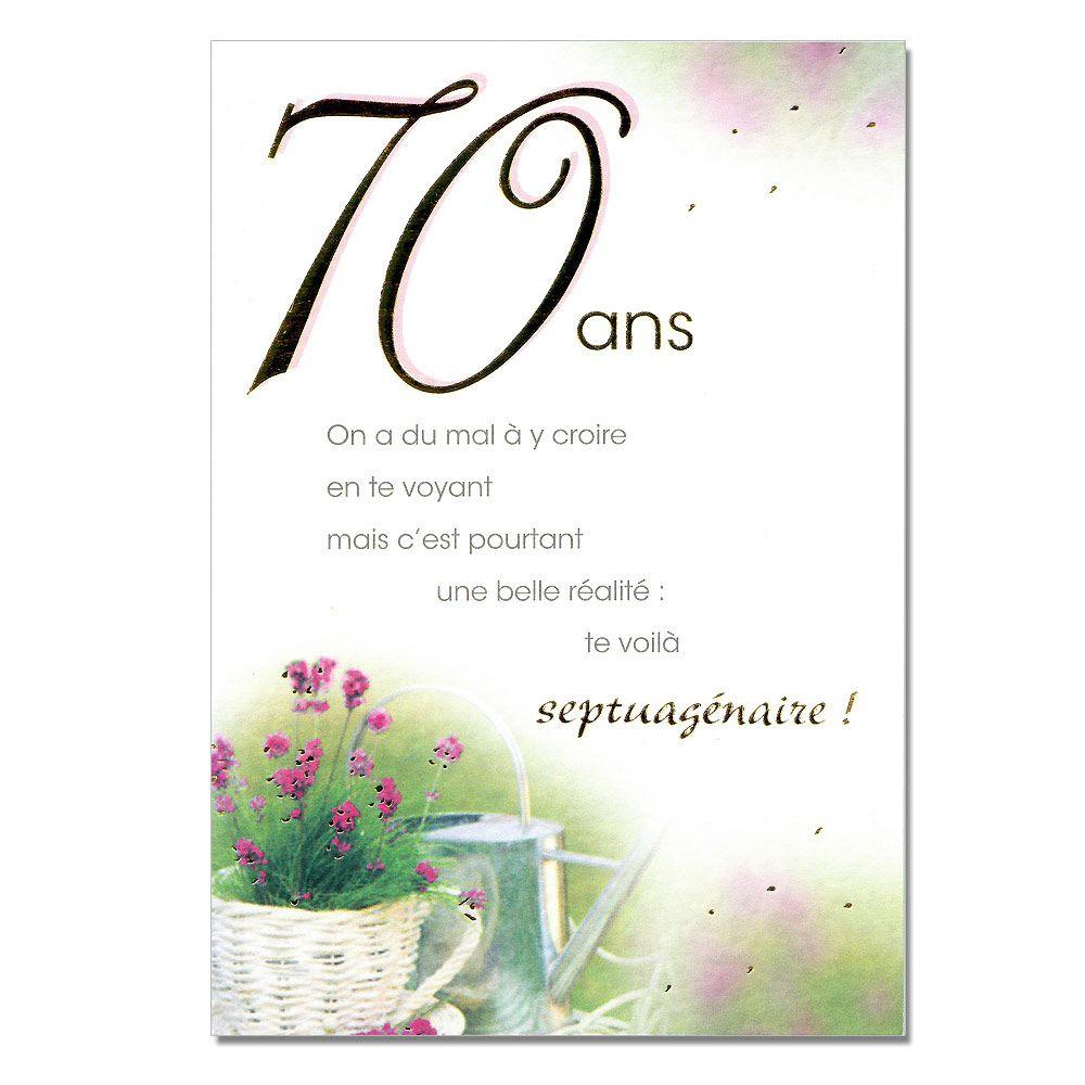 Carte Anniversaire Pour Un Homme De 70 Ans Nanaryuliaortega Blog
