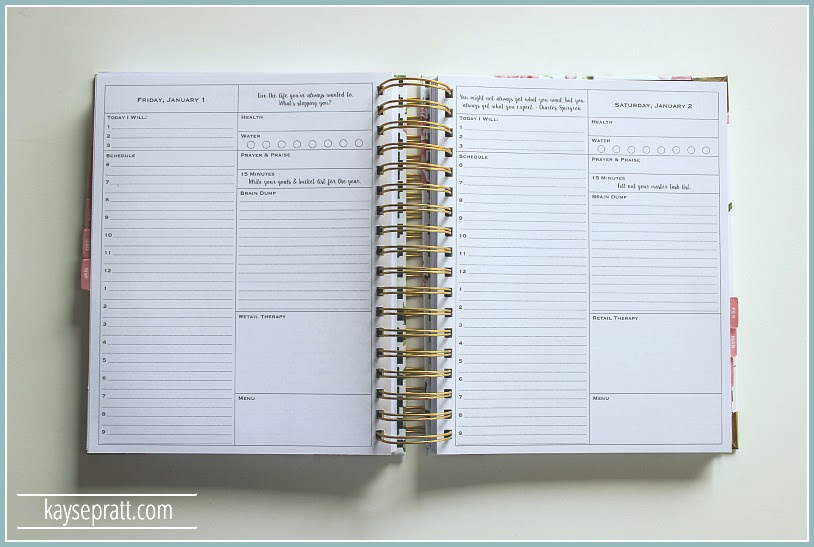 Daily Agenda 2017 | Daily Planner