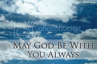 God Facebook Graphic May God Be With You Always