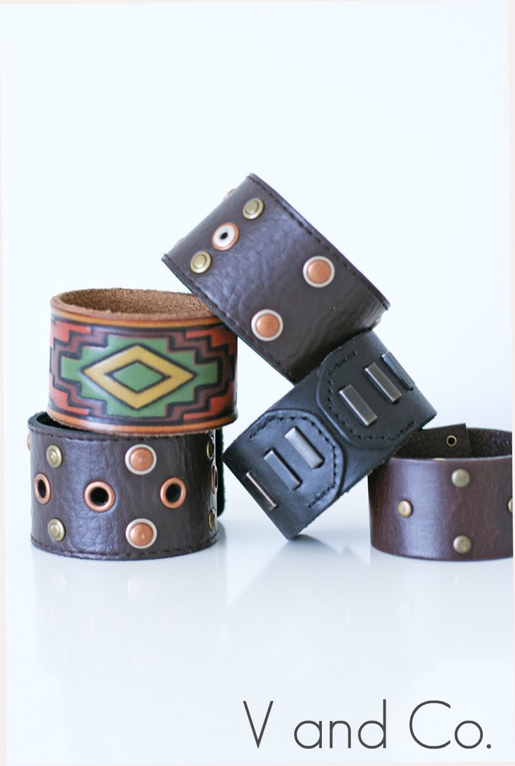 How to make a leather cuff from a belt #tutorial #jewelry